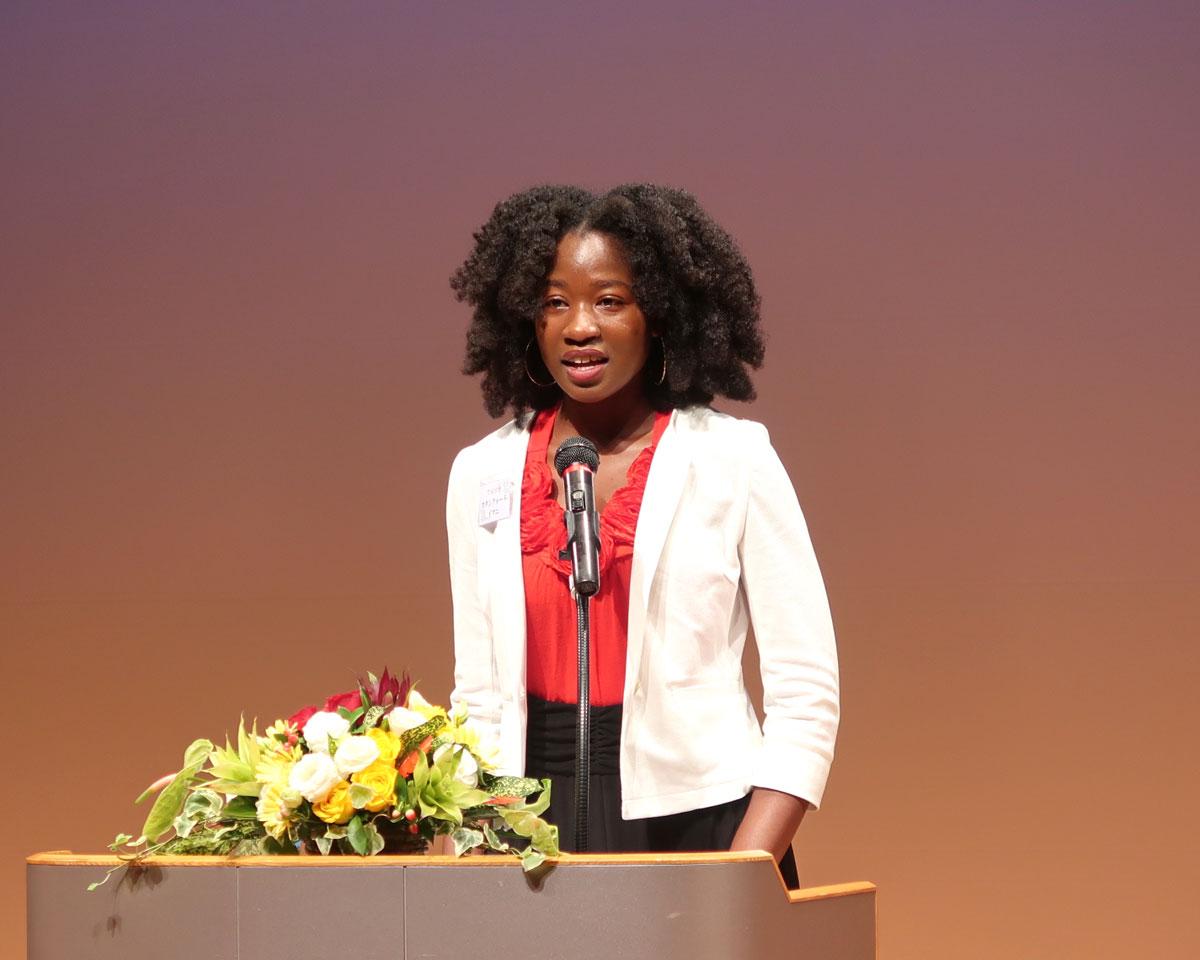 世界平和女性連合(WFWP)女子留学生日本語弁論大会