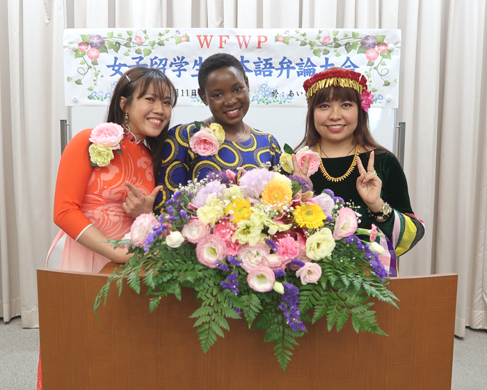 2020世界平和女性連合WFWP留学生日本語弁論大会福岡県大会参加した留学生