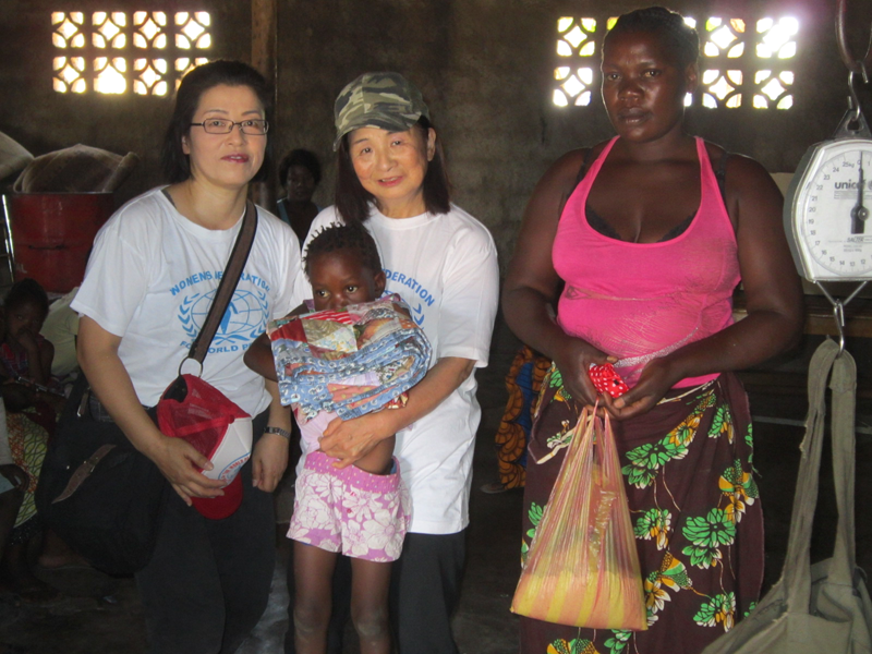 世界平和女性連合(WFWP)ザンビアでの活動の様子