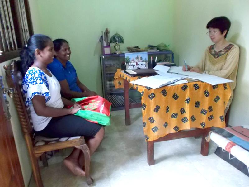 世界平和女性連合(WFWP)スリランカ活動の様子