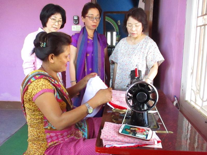 世界平和女性連合(WFWP)ネパールでの活動の様子