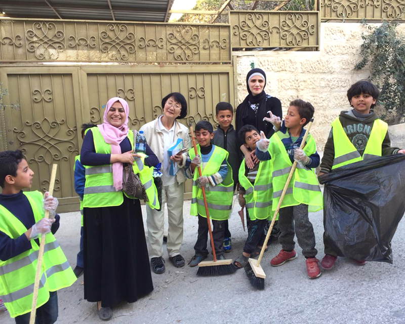 世界平和女性連合(WFWP)ヨルダンでの活動の様子